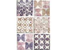 Декор Cir Cotto Formella Texture S/6 Viola 20x20 см