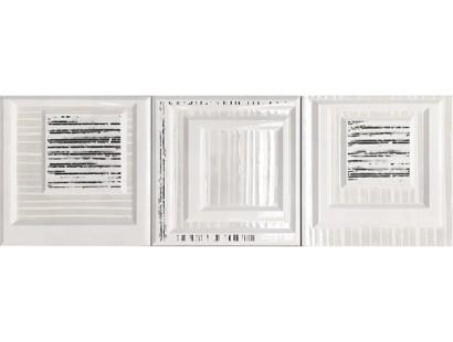 Декор Ceramiche Brennero Dec.Tre-Di Bianco Trebif 25x25 см