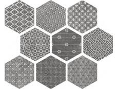 Керамогранит Ape Soft Hexagon Kendo Mix Grey 23x26 см