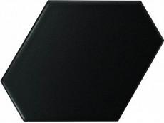Плитка Equipe Scale Benzene Black Matt (23832) 10,8x12,4 см
