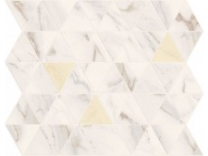Мозаика Marca Corona MotifCalacattaTriangleGoldTessereRombi 25x29 см