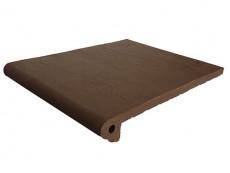 Фронтальная ступень Natural Brown/Коричневый клинкерная 33x25 см