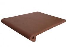 Фронтальная ступень Natural Bordo/Бордо клинкерная 33x25 см