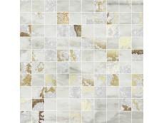 Мозаика Ceramiche Brennero Venus Mos.Q.Solitaire Mix Lapp. Grey Tess. (2,9X2,9) 30x30 см