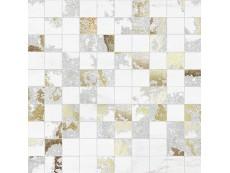 Мозаика Ceramiche Brennero Venus Mos.Q.Solitaire Mix Lapp. White Tess. (2,9X2,9) 30x30 см
