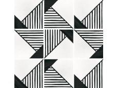 Керамогранит Equipe Caprice Deco Origami B&W 20x20 см