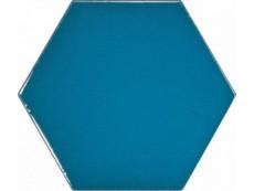 Плитка Equipe Scale Hexagon Electric Blue (23836) 10,7x12,4 см