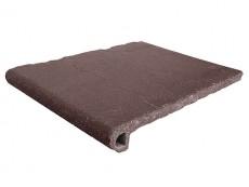 Фронтальная ступень Antique Brown/Античный коричневый клинкерная 33x25 см