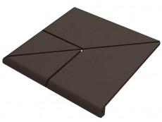 Угловая ступень Natural Brown/Коричневый клинкерная 4х составная 33x33 см