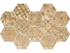 Керамогранит Ragno Epoca Decoro cementine Ocra R55T 21x18,2 см