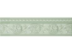 Бордюр Caprichosa Moldura Yara Verde Pastel 4x15 см