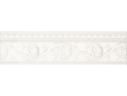 Бордюр Caprichosa Moldura Yara Blanco 4x15 см