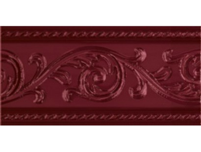 Бордюр Caprichosa Cenefa Yara Burdeos 7,5x15 см