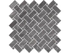 Мозаика Cerdomus Supreme Mosaico Kadi Charcoal Lev (78080) 30x30 см