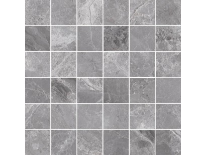 Мозаика Cerdomus Supreme Mosaico Grey Lev. 4.7x4.7 (75536) 30x30 см
