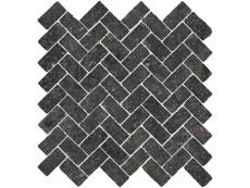 Мозаика Italon Room Stone Black Mosaico Cross 31,5x29,7 см