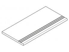 Фронтальная ступень Italon Room Black Gradino Round Grip 30x60 см