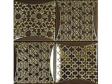 Декор Ceramiche Brennero Dec.Luce Frame Moka Framof 25x25 см
