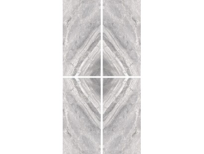 Керамогранит Cerdomus Supreme Book Match Silver Levigato S/4 (77538) 120x240 см