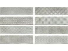 Плитка Cifre Decor Opal Grey (8 Видов) 7,5x30 см