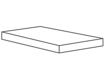 Ступень Cerdomus Supreme Angolo Dx Grad.C.Retta Charcoal Nat. (75505) 33x120 см