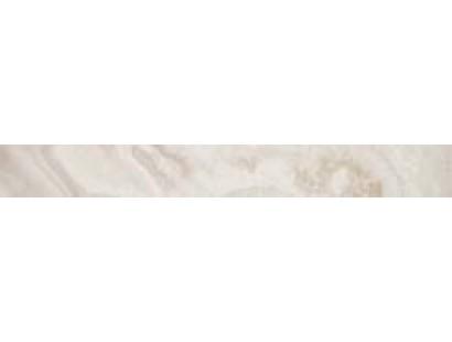 Бордюр Atlas Concorde Supernova Onyx Floor Pure White Listello Lappato 7,3x59 см
