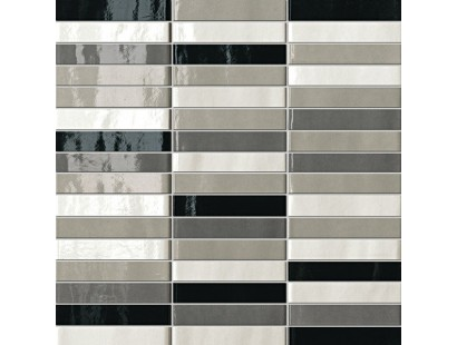 Мозаика Fap Ceramiche Manhattan Tratti Grigi Mosaico 30x30 см