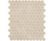 Мозаика Fap Ceramiche Roma Diamond Beige Duna Round Mosaico 29,5x32,5 см