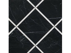 Декор Fap Ceramiche Roma Diamond Incroci Nero Reale Carrara 60x60 см