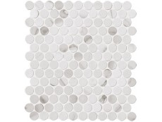 Мозаика Fap Ceramiche Roma Diamond Statuario Round Mosaico 29,5x32,5 см