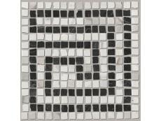 Мозаика Fap Ceramiche Roma Angolo Greca Statuario Grafite Mosaico 20x20 см