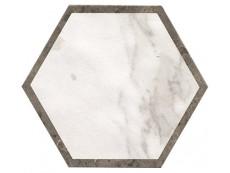 Декор Fap Ceramiche Roma Deco Esagono Calacatta Imperiale Matt 25x21,6 см