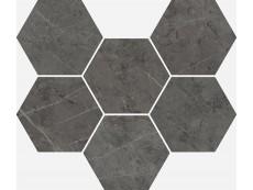 Мозаика Italon Charme Evo Floor Antracite Mosaico Hexagon 25x29 см