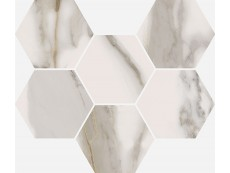 Мозаика Italon Charme Evo Floor Calacatta Mosaico Hexagon 25x29 см