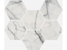 Мозаика Italon Charme Evo Floor Statuario Mosaico Hexagon 25x29 см