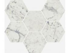 Мозаика Italon Charme Extra Floor Carrara Mosaico Hexagon 25x29 см