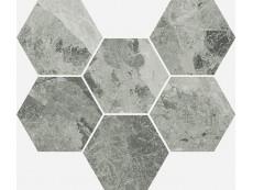 Мозаика Italon Charme Extra Floor Silver Mosaico Hexagon 25x29 см