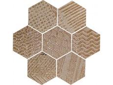 Мозаика Naxos Raku Esagona Copper 35,5x37 см