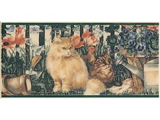 Декор Petracers Grand Elegance Cats su Crema A 10x20 см