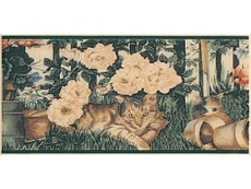 Декор Petracers Grand Elegance Cats su Crema B 10x20 см