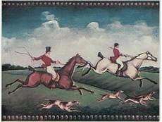 Декор Petracers Grand Elegance Fox Hunting B (Two Riders) 15x20 см