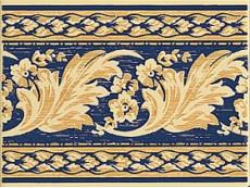 Декор Petracers Grand Elegance Nicole Blu su Crema 15x20 см