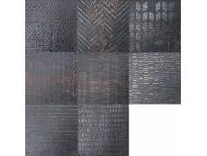 Декор Serenissima Costruire Lamiera Mix Nero 25x25 см
