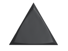 Плитка ZYX Evoke Triangle Channel Black Matt 15x17 см