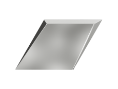 Плитка ZYX Evoke Diamond Drop Silver Glossy 15x25,9 см
