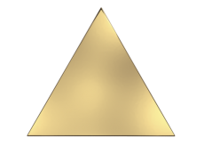 Плитка ZYX Evoke Triangle Layer Gold Glossy 15x17 см