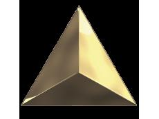 Плитка ZYX Evoke Triangle Level Gold Laser Glossy 15x17 см