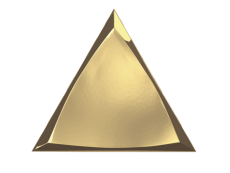 Плитка ZYX Evoke Triangle Channel Gold Glossy 15x17 см